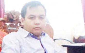 Anggota DPRD Gunung Mas, Evandi Juang.