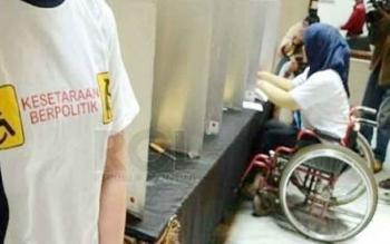 Dari 174 pemilih difabel di Kabupaten Kobar, 62 di antaranya penderita tuna daksa.