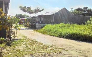Salah satu tanah sosial dari pihak pengembang perumahan yang tidak dimanfaatkan dengan baik oleh Pemkot Palangka Raya.