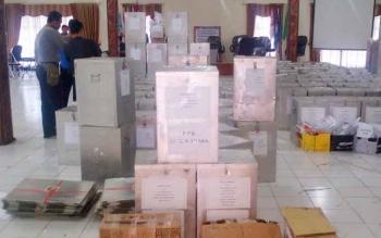 KPU Distribusikan 178 Kotak Suara Kedua Kecamatan