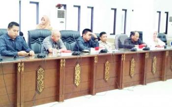 Tim Pansus RTRWK Barito Utara saat membahas masalah penciutan APL areal tambang