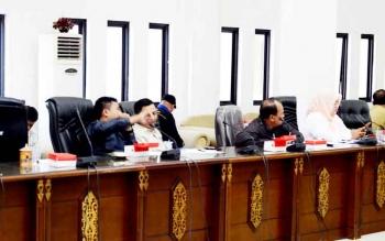 Taufik Nugraha Anggota Tim Pansus saat menyampaikan pendapat masalah RTRWK Barito Utara