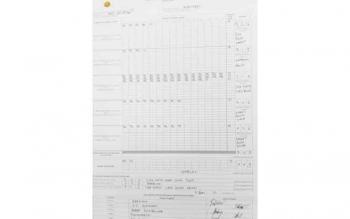 Hasil penghitungan suara di TPS 27 Kelurahan Madurejo, Kecamatan Arut Selatan, Kotawaringin Barat.
