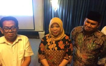 Koordinator pemenangan pasangan Hj Nurhidayah - Ahmadi Riansyah (NURANI), HM Ruslan AS mengungkapkan rasa syukur atas keunggulan suara pasangan Nurani.