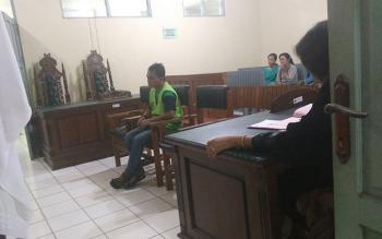 Terdakwa pencabulan Eri Ade Irawan, pemuda 26 tahun, warga Jalan Jalan Hiu Putih IX A, RT 006, RW 010, Kelurahan Bukit Tunggal, Kecamatan Jekan Raya, Palangka Raya
