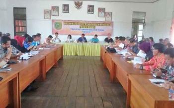 Pelaksanaan Musrenbang Kecamatan Kahayan Tengah, Jumat (17/2/2017)