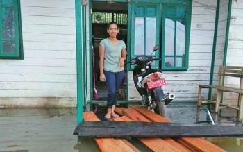Banjir, Aktivitas Masyarakat Empat Desa di Lamandau Nyaris Lumpuh
