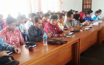 Sejumlah anggota DPRD Pulang Pisau saat menghadiri acara Musrenbang Kecamatan Kahayan Tengah, Jumat (17/2/2017)
