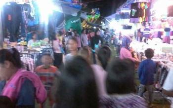 Pasar Malam di Kasongan, Kabupaten Katingan.
