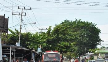Beginilah kondisi pemasangan kabel listrik di wilayah Pulang Pisau