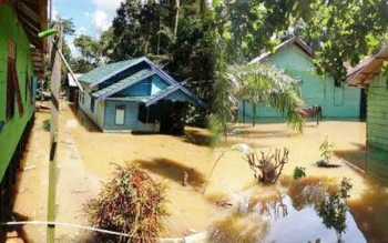 Ilustrasi, banjir di Pangkut, Kecamatan Arut Utara.