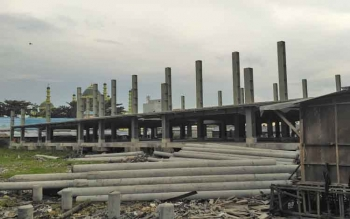 Pembangunan tahap pertama Pasar Indrasari, Pangkalan Bun yang menelan anggaran Rp19 miliar selesai.