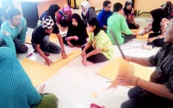 Pelatihan UMKM yang dilaksanakan Dinas Perindagkop dan UMKM Kapuas.