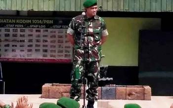 Untuk membackup Polres Kobar dalam pengamanan sidang pleno KPU, besok TNI menerjunkan 2 SST personilnya