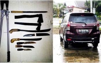 Barang Bukti yang digunakan pelaku pencurian di sebuah warung jalan lintas kalimantan yang berhasil diamankan polisi.