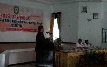 Konsultasi publik rancangan awal RKPD Kotim 2018, di Bappeda, Rabu (22/2/2017),