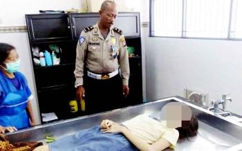Jenazah Bella Septia disemayamkan di kamar mayat RSUD dr Doris Sylvanus Palangka Raya, Rabu (22/2/2017).