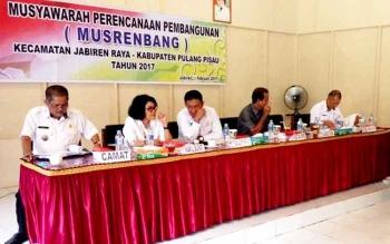 Kegiatan Musrenbang Kecamatan Jabiren Raya, Rabu (22/2/2017).