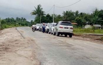 Kondisi jalan Selamat Datang Desa Pudu Kecamatan Sukamara kini sudah beraspal.