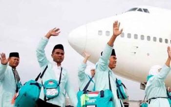 Calon jemaah haji dari Kalimantan Tengah.