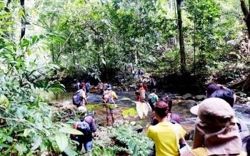 Salah satu objek wisata alam di Kabupaten Lamandau.