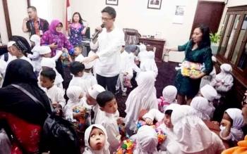 Kunjungan anak PAUD Al- Qonita ke Kantor Perwakilan Bank Indonesia Kalteng.