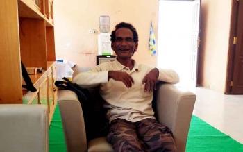 Aleksius memberikan keterangan kepada wartawan di kantor Sekretariat PWI Kabupaten Barito Utara, Jumat (224/2/2017).
