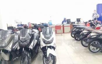 Belasan Sepeda Motor jenis matik dipajang di salah satu dealer kendaraan Pangkalan Bun, Kabupaten Kobar.