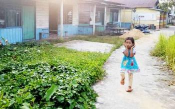 Kelurahan Mendawai Jalan Setia Yakin merupakan salah satu lokasi padat penduduk.