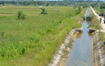 Irigasi untuk pertanian di Desa Jamut, Kecamatan Teweh Timur.