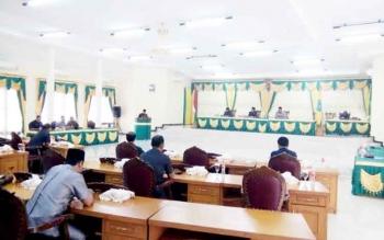 Suasana Sidang Paripurna DPRD Lamandau, beberapa waktu lalu.