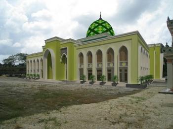 Inilah desain renovasi Masjid Raya Siratal Mustaqim, Muara Teweh yang baru.