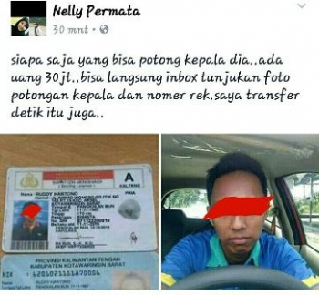 Hasil tangkapan layar postingan yang dibuat oleh pemilik akun Facebook bernama Nelly Permata.