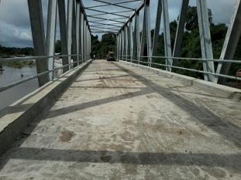 Jembatan Kalanaman di Desa Banut Kalanaman ini nantinya membuka akses jalur darat menuju wilayah hulu utara Katingan