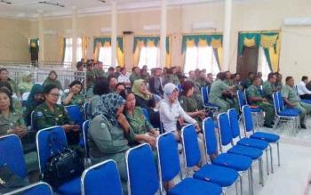 Tampak sejumlah perwakilan SKPD telah berada di tempat sidang.