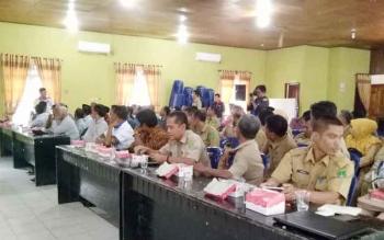 Peserta saat mengikuti rapat koordinasi dan rencana aksi Sukamara Bebas Narkoba di gedung Gawi Barinjam.