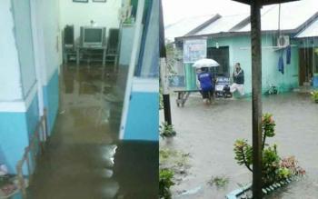 Komplek perumahan Bumi Palangka 3 di Jalan Tjilik Riwut Km 8 terendam luapan air hujan, Rabu (1/3/2017).