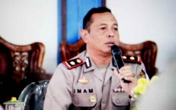 Ketua Unit Tim Saber Pungli Kabupaten Lamandau Kompol Imam Riyadi