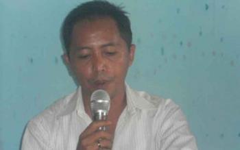 Hamidan IJ Biring, terdakwa dugaan korupsi dana hibah di DAD Kotim.