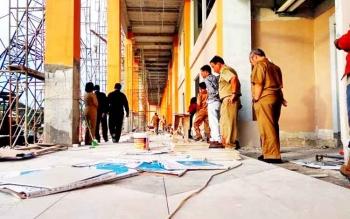 Pembangunan stadion yang merupakan salah satu proyek multi years di Kabupaten Pulang Pisau.