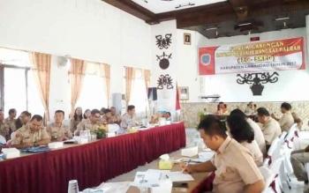 Tampak suasana rapat Forum Gabungan SKPD pemkab Lamandau.