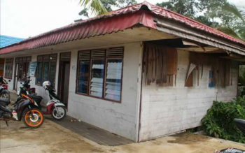 Kondisi Pustu yang ada di Desa Bahitom, Kecamatan Murung yang kondisinya cukup memperihatinkan.