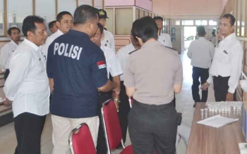 Tes urine terhadap pegawai di lingkup Pemkab Seruyan, beberapa waktu lalu.