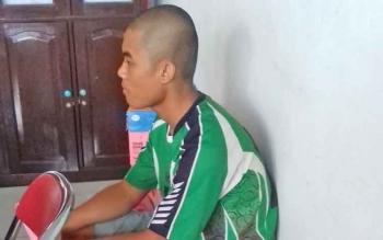 Hat (17), remaja yang terlibat kasus pencurian sawit.