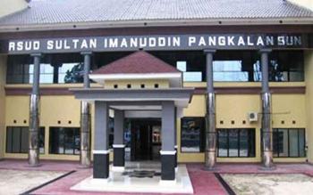 Bangunan Rumah Sakit Sultan Imanuddin Pangkalan Bun.