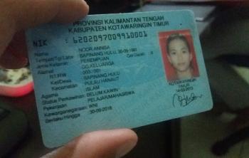KTP salah satu warga Sampit.