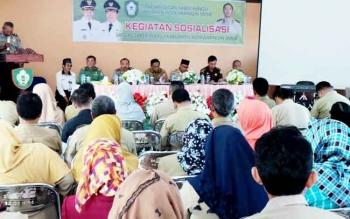 Sosialisasi pencegahan pungli oleh Satgas Saber Pungli di Kecamatan Baamang, Selasa (7/3/2017).