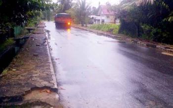 Hujan mengguyur Kota Buntok dan sekitarnya, Selasa (7/3/2017) sore.