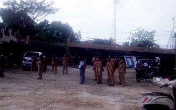 Aktivitas apel ASN di salah satu kantor pemerintahan di Murung Raya