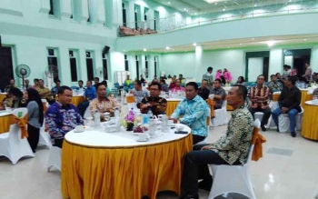 Suasana acara malam keakraban Pemkab Pulang Pisau, Selasa (7/3/2017).